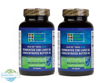 2 x Blue Ice Royal Butter / Fermented Cod Liver Oil Blend-Capsules Green Pasture