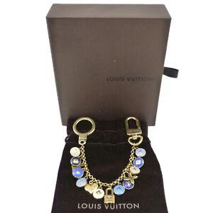 Auth LOUIS VUITTON Porte Cles Chaine Pastilles Bag Charm M65911 Blue #W510014