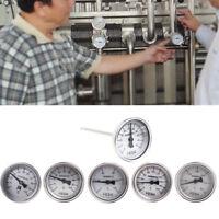 Bi-metallic Thermometer 1/4PT Thread L=100mm 0~50~300℃ WSS-303 Stainless Steel
