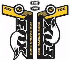 FOX 32 Forks / Suspension Factory Style Decal Kit Sticker Adhesive Set Yellow