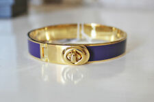 Coach Hinged violet Enamel Bracelet, Gold Tone Metal, NWT, 100% Authentic