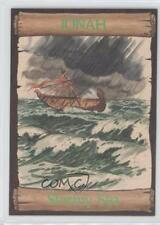 1989 re-Ed Bible Cards Jonah #3 Stormy Sea Non-Sports Card 0q3