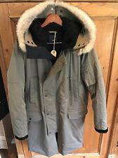 Vince Fur Hooded Down Parka NWOT Size M