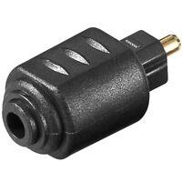 Adapter 1 MINI Klinke Kupplung Buchse weiblich 3,5mm auf Opto Stecker optisch