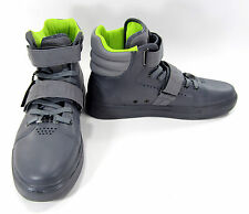 Android Homme Shoes Propulsion Hi Leather Straps Grey Sneakers Size 11