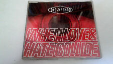 "DEF LEPPARD ""WHEN LOVE & HATE COLLIDE"" CD SINGLE 3 TRACKS"