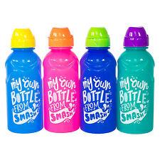 """Set of 4 """"My Own"""" BPA Free Plastic Water Drink Bottles 350ml School Sport Kids"""