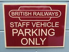 A Shed,workshop,trainroom,sign BritishRailways noparking. rhubcus great giftidea
