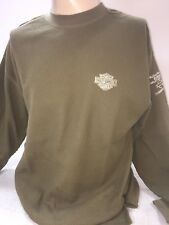 Harley Davidson bar and shield embroidered Green Thermal L/s Shirt Medium