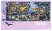"1997 FDC Australia. Creatures of the Night. Mini-sheet. PictPMK. ""DARK CORNER"""