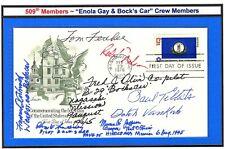 "509th ""Enola Gay Hiroshima"" & ""Bock's Car Nagasaki"" POSTAL COVER by 8 CREWMEN 05"