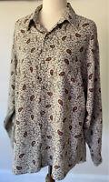 Vintage Duchamp Womens L/S Paisley Floral Shirt : Size M: Soft & Stylish : GUVC