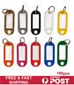 100Pcs Plastic Luggage Key Tags ID Tags Key Rings Key Tag Key Chains Key Fob