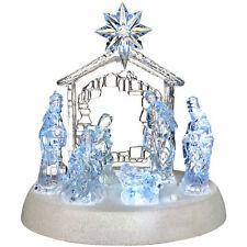 18 cm Natale Pre Illuminato LED Musical Natale Natività Scena Decorazione 545