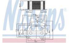 NISSENS Radiador de aceite, aceite motor FORD TRANSIT MONDEO CITROEN JUMPY 90717