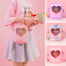 Lolita Girl Heart-shaped Transparency Itabag Shoulder Bag Sling Bag Phone bag