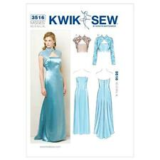 Kwik sew sewing pattern misses's dress & vestes taille xs-xl K3516