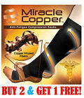 Miracle Copper Socks Anti Fatigue Compression Socks, UNISEX (SMALL/MEDIUM)
