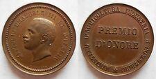 Vittorio Emanuele III medaglia premio d'onore del Ministero Agricoltura e Indust