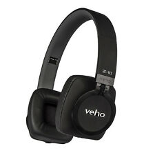 Veho Z-10 On-Ear Wired Headphones with Microphone/Remote Control 'Black Edition'