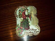 NEW BOXED PUNCH STUDIO OLD WORLD SANTA HOLIDAY CHRISTMAS CARDS ENV 10 CT
