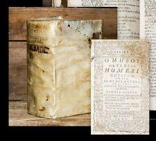 1586 Graeca Greek Printing Homer und Herakleides Pontikos Heraclides Ponticus