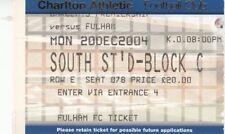 Billete Charlton Athletic v Fulham - 20.12.04