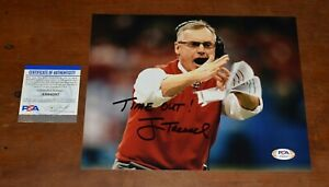 JIM TRESSEL Signed Inscribed 8x10 Photo-TIME OUT Ohio State Buckeyes-PSA
