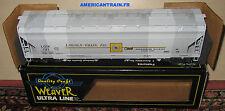 Wagon Centerflow Hopper Lincoln Grain 721 3 rails échelle O Weaver