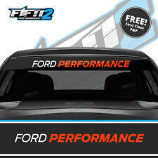Ford Fiesta ST Focus RS Ford Performance Sun Strip Decal High Quality FREE P&P