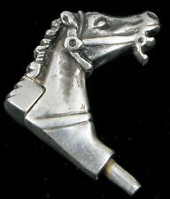 Sterling Silver Spring Loaded Equestrian Horse Head Perfume Lighter Watch Fob ?