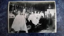 1900's Vintage Barbershop Interior 4 Barbers Large Shop Photo