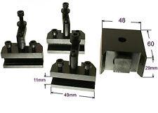 40290 GG-Tools Schnellwechselstahlhalter Drehstahlhalter Set mit 3 Halter