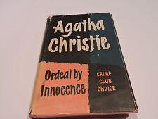 ORDEAL BY INNOCENCE Agatha Christie CRIME Club Choice MYSTERY 1st ed 1958 HCDJ