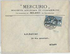 64187 - ITALIA REGNO - STORIA POSTALE: POSTA PNEUMATICA #7 isolato su BUSTA 1925