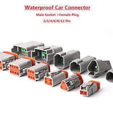 Conector de Cable Impermeable Sellado Eléctrico Cable Enchufe para Coche 2/3/4/6/8/12 Pines