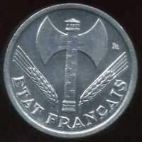 50 centimes BAZOR 1942 ( SPL )
