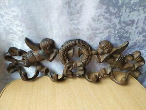 Vintage wall Decorative Metalware iron metal Hooks hanger angels