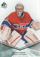 2011-12 SP Authentic Hockey #23 Carey Price Montreal Canadiens