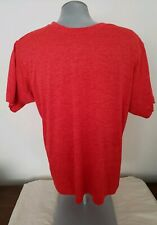 Adidas T Shirt Mens M Red Authentic Freelift Climalite Training Tee Great Cond.