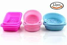 12pcs Handmade Square Silicone Soap Mold Soap Making Supplies Silicone Mould