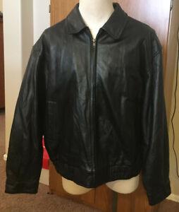 St. Johns Bay men's Leather Jacket XXL-Black