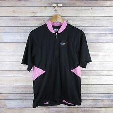 LOUIS GARNEAU Women's Newton Cycling Jersey L Large Black & Pink