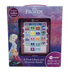 Disney Frozen & Frozen 2  NEW  8 Book Library & Electronic Read Aloud Me Reader