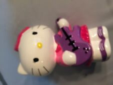 Rare HELLO KITTY Ceramic PIGGY BANK Perfect Condition PURPLE GUITAR Rubber Cap
