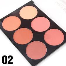New Smooth 6 Color Contour Blush Face Blusher Powder Palette Set Reliable DQUS