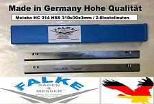 Metabo HC 314, Hobelmesser HSS 310x30x3mm / 2-Einstellnuten, 4 Stück bis Bj. 99