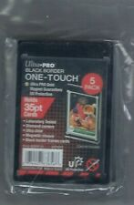 Ultra Pro 1 One Touch Magnetic Card Holders ~ 35pt Black Border 1 pack of 5