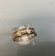 Women's 9ct Gold Vintage Diamond Stone Eternity Ring Size K Weight 3.02g Stamped