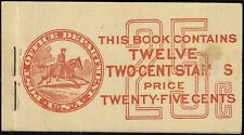 #BK58 1917 499e 25 CENT BOOKLET ISSUE--COVER BC5A FEW COVER FAULTS (CAT. $250.)